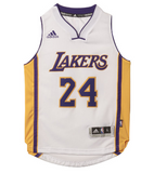 Los Angeles Lakers Kids Adidas Kobe Bryant #24 Jersey White