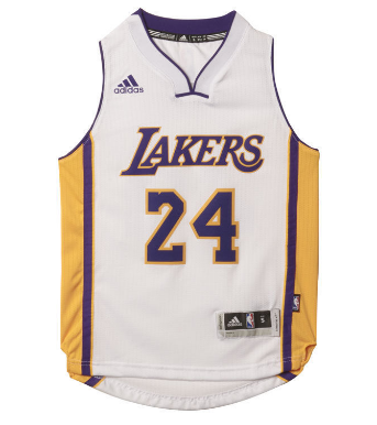 Los Angeles Lakers Kids Adidas Kobe Bryant  24 Jersey White – THE ... 63b3b3880