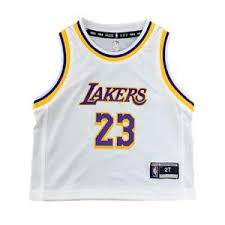 Los Angeles Lakers Toddler Jersey Authentic NBA LeBron James #23 White