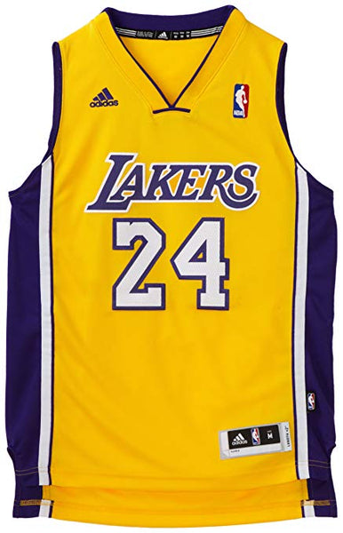 reputable site a10b4 13491 Los Angeles Lakers Kids 4-7 Adidas Kobe Bryant #24 Jersey Yellow