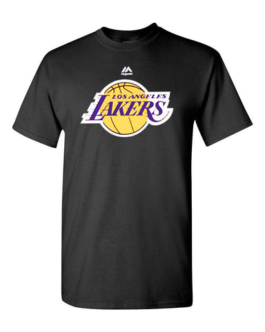 Los Angeles Lakers Mens T-Shirt Majestic Logo Black