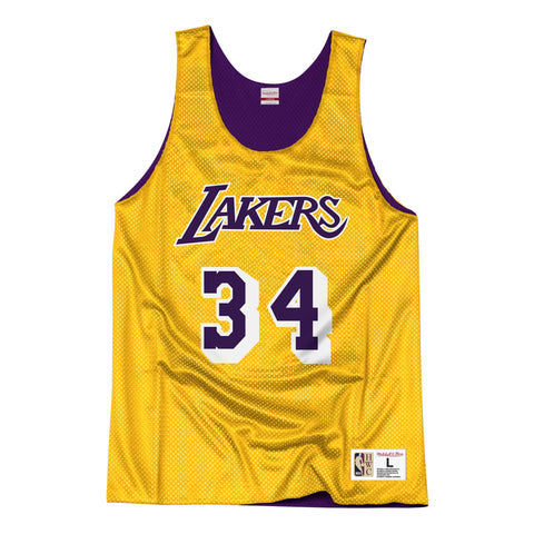 the best attitude 2d8a3 85adc Los Angeles Lakers Mens Mitchell & Ness Shaquille O'Neal #34 Reversible  Mesh Tank Top