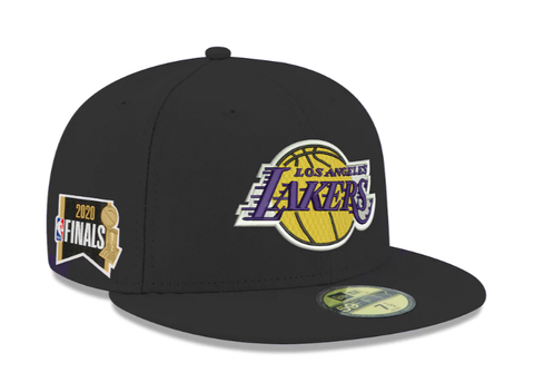 Los Angeles Lakers Fitted Ne Era 59Fifty NBA Finals 2020 Side Patch Black Hat Cap