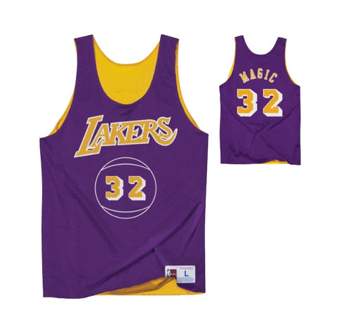 c6afcbb4a Los Angeles Lakers Mens Mitchell   Ness Magic Johnson  32 Reversible Mesh  Tank Top
