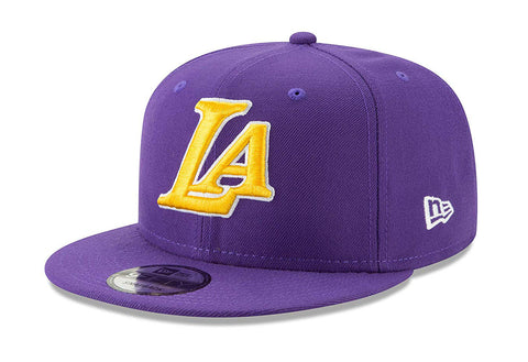 Los Angeles Lakers Snapback New Era 9Fifty Back Half YLW Purple Cap Hat
