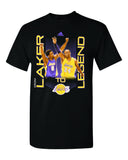 "Los Angeles Lakers Mens T-Shirt Adidas Kobe ""Laker to Legend"" Black"