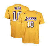 Los Angeles Lakers Mens T-Shirt Adidas #10 Nash Yellow Player