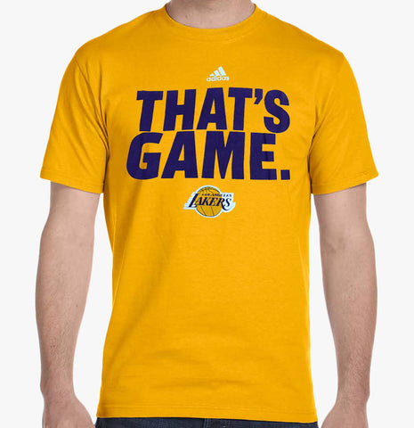 Los Angeles Lakers Youth Adidas 'Thats Game' T-Shirt Yellow