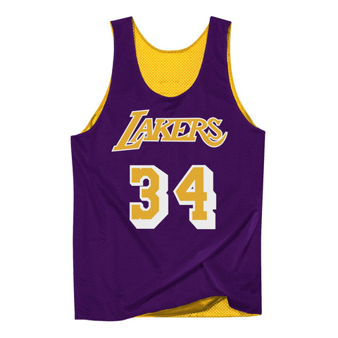a55db354b64 Los Angeles Lakers Mens Mitchell   Ness Shaquille O Neal  34 Reversible  Mesh Tank