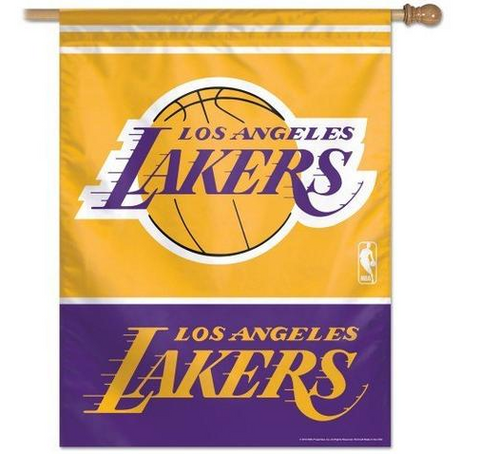 Los Angeles Lakers Vertical Home Banner Flag