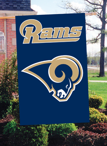 "Los Angeles Rams Nylon 2-Sided Oversized Flag 44"" x 28"" Gold Logo"
