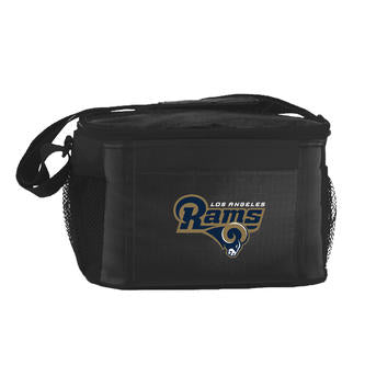 Los Angeles Rams 6-Pack Cooler Lunch Bag Black