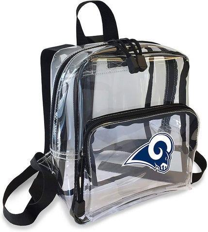 "Los Angeles Rams ""X-Ray"" Mini Transparent 9"" Backpack"