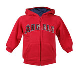 Anaheim Angels Toddler Majestic Full Zip Hooded Sweater Red