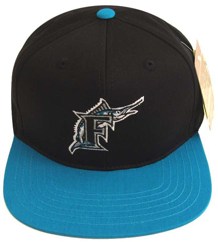 Florida Marlins Snapback American Needle Logo Black Blue