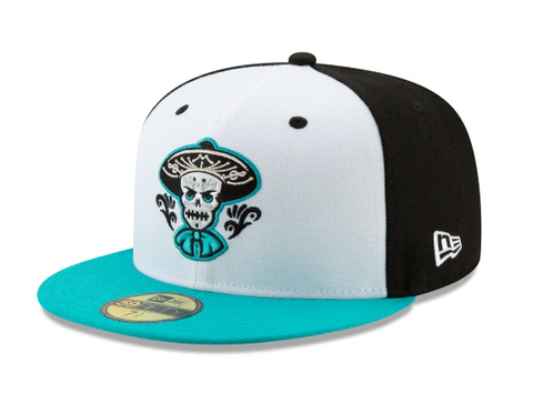 Albuquerque Isotopes Mariachis Fitted New Era 59Fifty Copa de la Diversion Teal