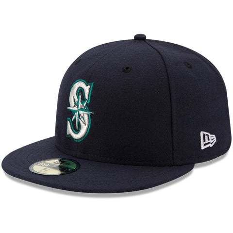 Seattle Mariners Fitted New Era 59Fifty On Field Navy Hat Cap
