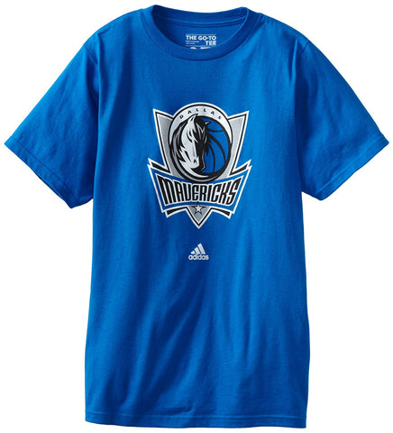 Dallas Mavericks Mens T-Shirt Adidas Logo Blue