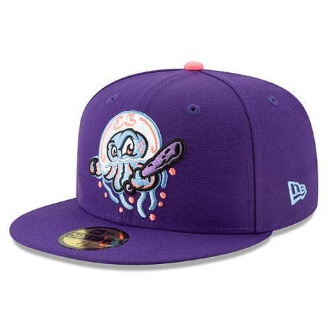 Lakewood Blueclaws Medusas Fitted New Era 59Fifty Copa de la Diversion Purple