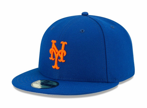 New York Mets Fitted New Era 59Fifty Alternate No Flag Blue Cap Hat
