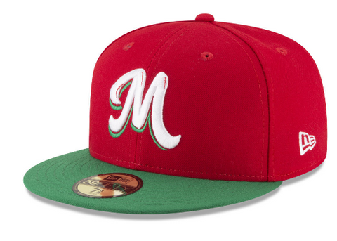 Mexico Fitted New Era 59Fifty Serie Del Caribe Red Green Cap Hat