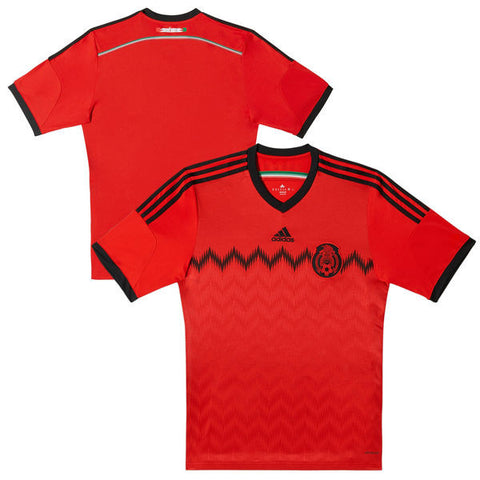 Mexico Youth Adidas Replica Away Red Soccer Jersey