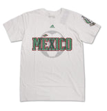 Mexico Mens Soccer Futbol Adidas Fan T-Shirt White