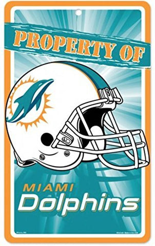 Miami Dolphins Bar and Home Decor Property of Sign