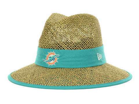 Miami Dolphins New Era Natural On-Field Training Camp Straw Hat