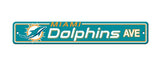 Miami Dolphins Ave Bar Home Decor Plastic Street Sign