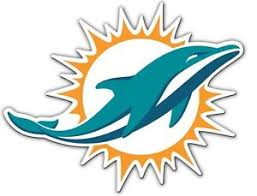 Miami Dolphins Logo Car or Truck Large Magnet