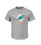 Miami Dolphins Mens Majestic Critical Victory T-Shirt Grey