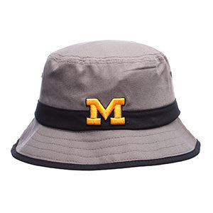 Michigan Wolverines Thunderhead Zephyr Bucket Hat Cap Grey