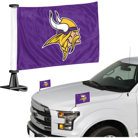 Minnesota Vikings Auto Ambassador Flag Set