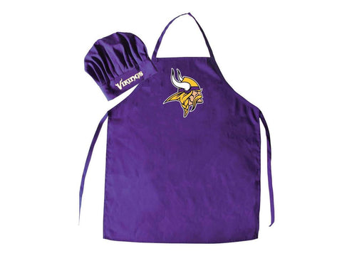 Minnesota Vikings Cooking Apron and Chef Hat Set 2-Piece