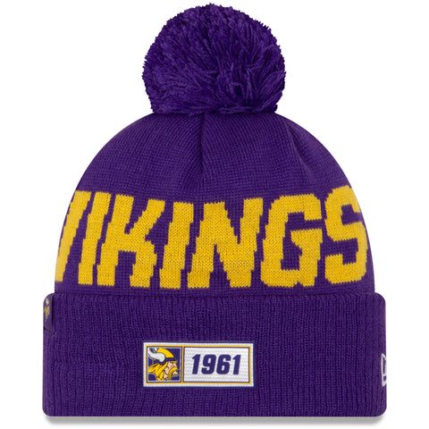 Minnesota Vikings Beanie New Era 2019 NFL Sideline Road Sport Knit Hat