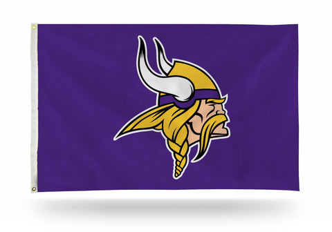 Minnesota Vikings Bar Home Decor 3' X 5' Flag Logo