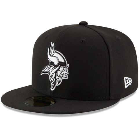 Minnesota Vikings Snapback New Era Basic Cap Hat Black White