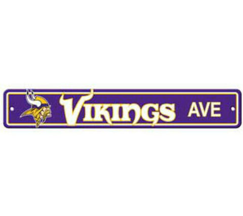 Minnesota Vikings AVE Bar Home Decor Plastic Street Sign