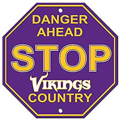 Minnesota Vikings Bar Home Decor Plastic Stop Sign