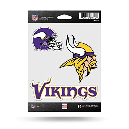 Minnesota Vikings Sticker Triple Spirit Pack