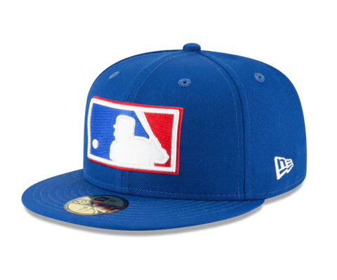 Major League Baseball Cooperstown MLB Umpire Fitted Logo New Era Cap Hat Blue