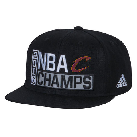 Cleveland Cavaliers Snapback Adidas 2016 NBA Champions Locker Room Adjustable Hat Cap Black