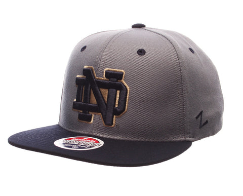 Notre Dame Fighting Irish Zephyr Z11 Slate Snapback Cap Hat Grey Navy
