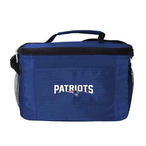 New England Patriots 6-Pack Cooler Lunch Bag Black