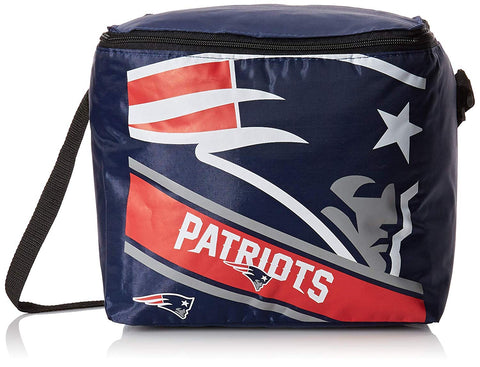 New England Patriots Big Logo Stripe 12 Pack Cooler