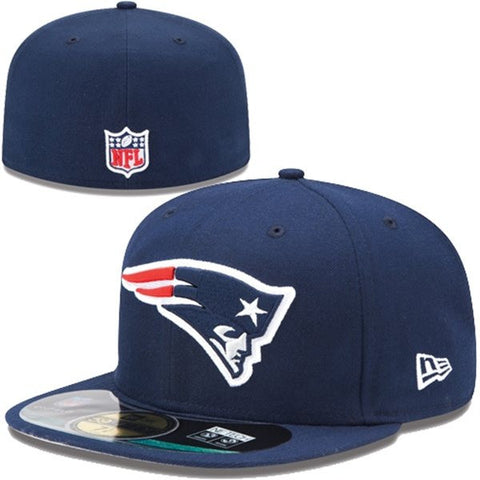New England Patriots Fitted New Era On Field Navy 59FIFTY Cap Hat
