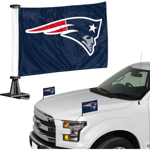 New England Patriots Auto Ambassador Flag Set