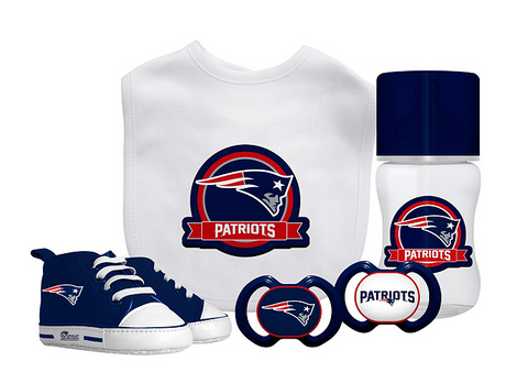 New England Patriots Baby Essentials 5 Piece Infant Gift Set New