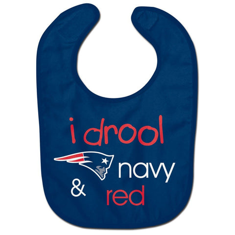 "New England Patriots ""I Drool"" Baby Bib"
